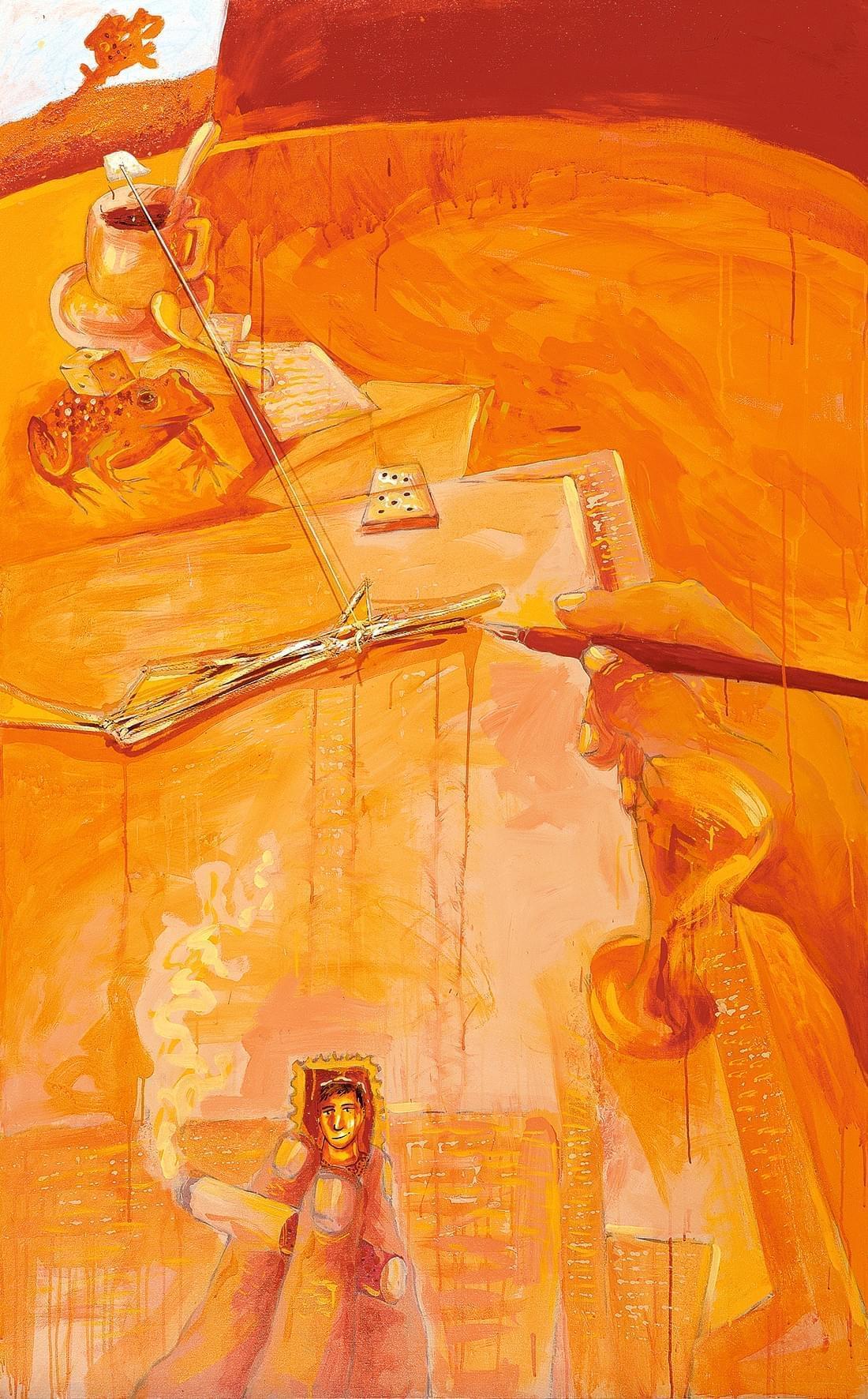 02-Cartas de amor Técnica mixta sobre lienzo 210 x 130 cm 1987