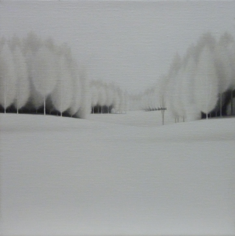 LW055. Atmosphere Xlll Óleo sobre lienzo 27 x 27 cm. 2011