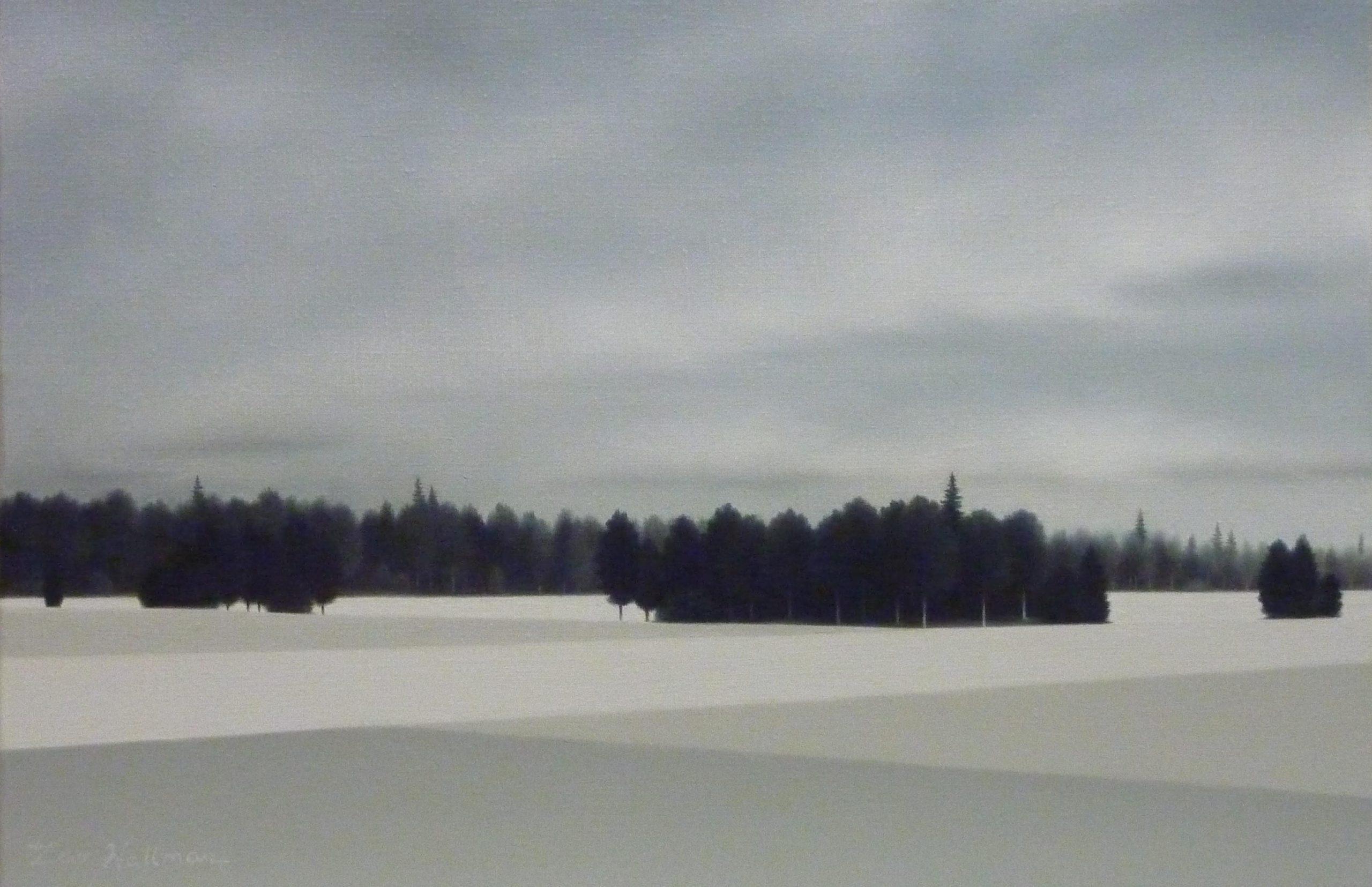 LW057. Crossing fields Óleo sobre lienzo 27 x 41 cm. 2012