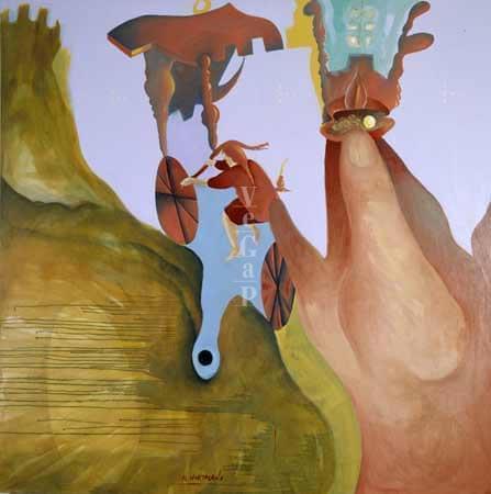 06-EH007 Por donde pasaba el aire perfumaba Óleo sobre lienzo 152 x 152 cm 1988