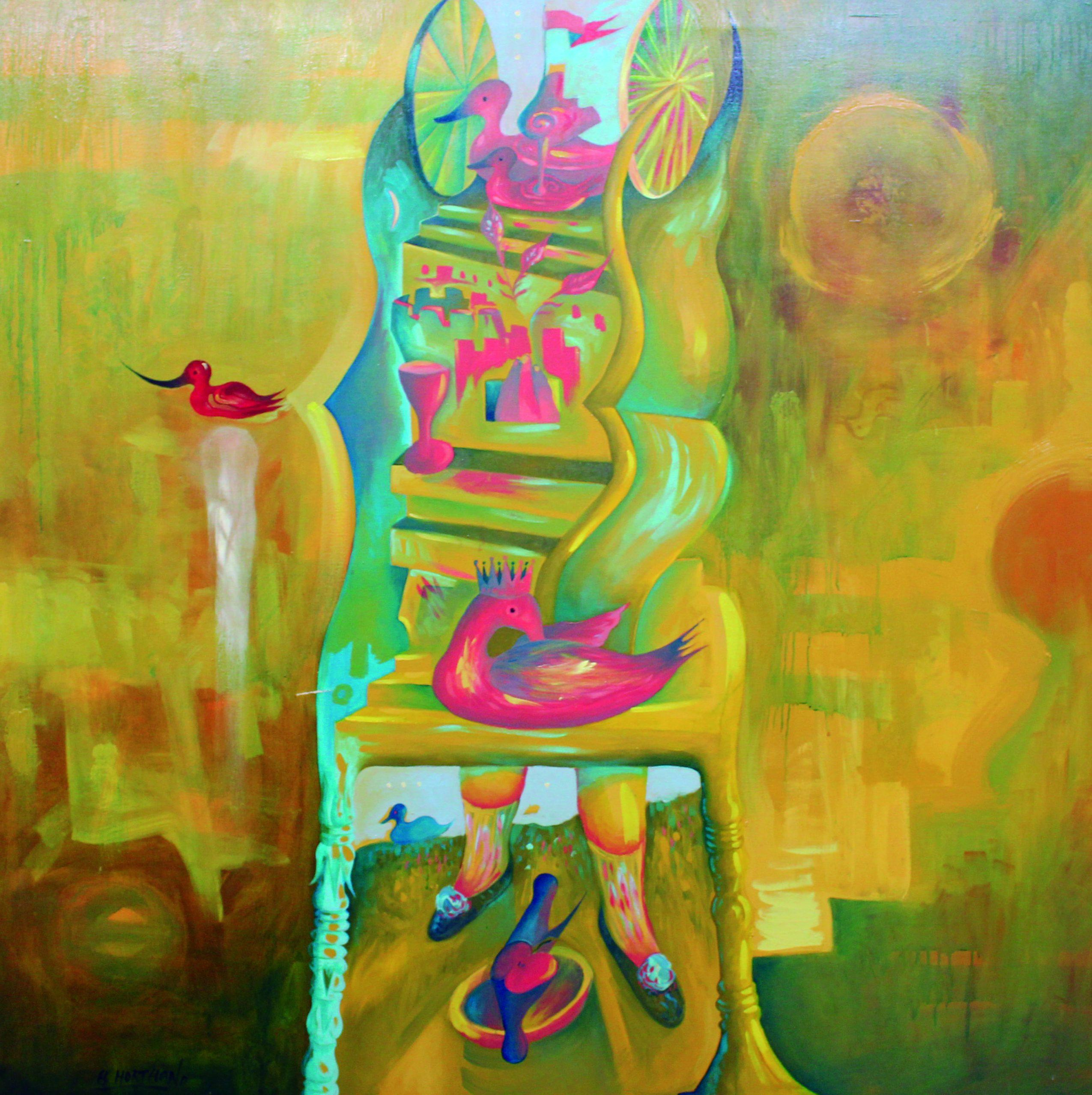 07-EH001 Amuleto Óleo sobre lienzo 152 x 152 cm 1988