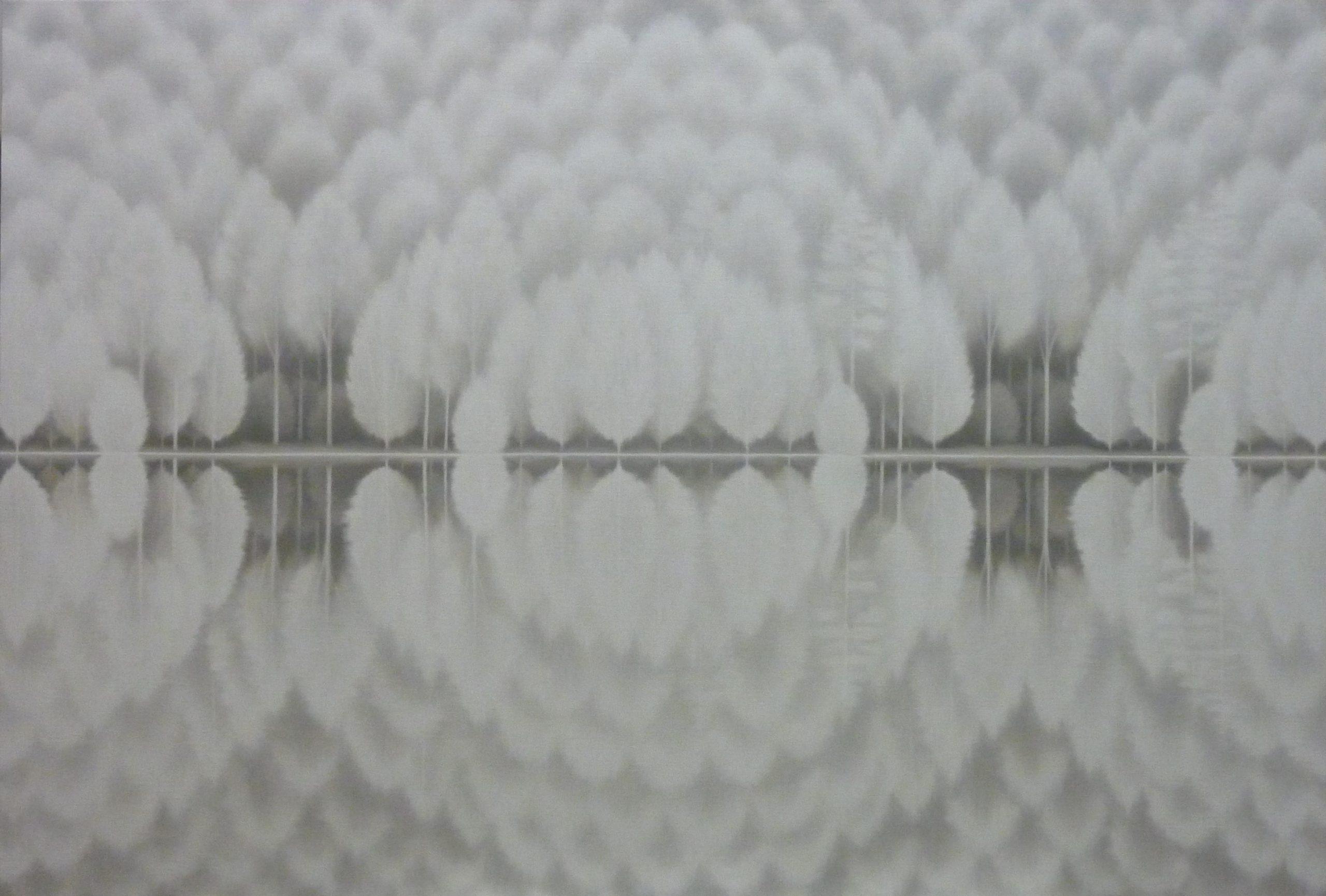 LW058 Endless white, 89x130 cm, óleo sobre lienzo, 2012.