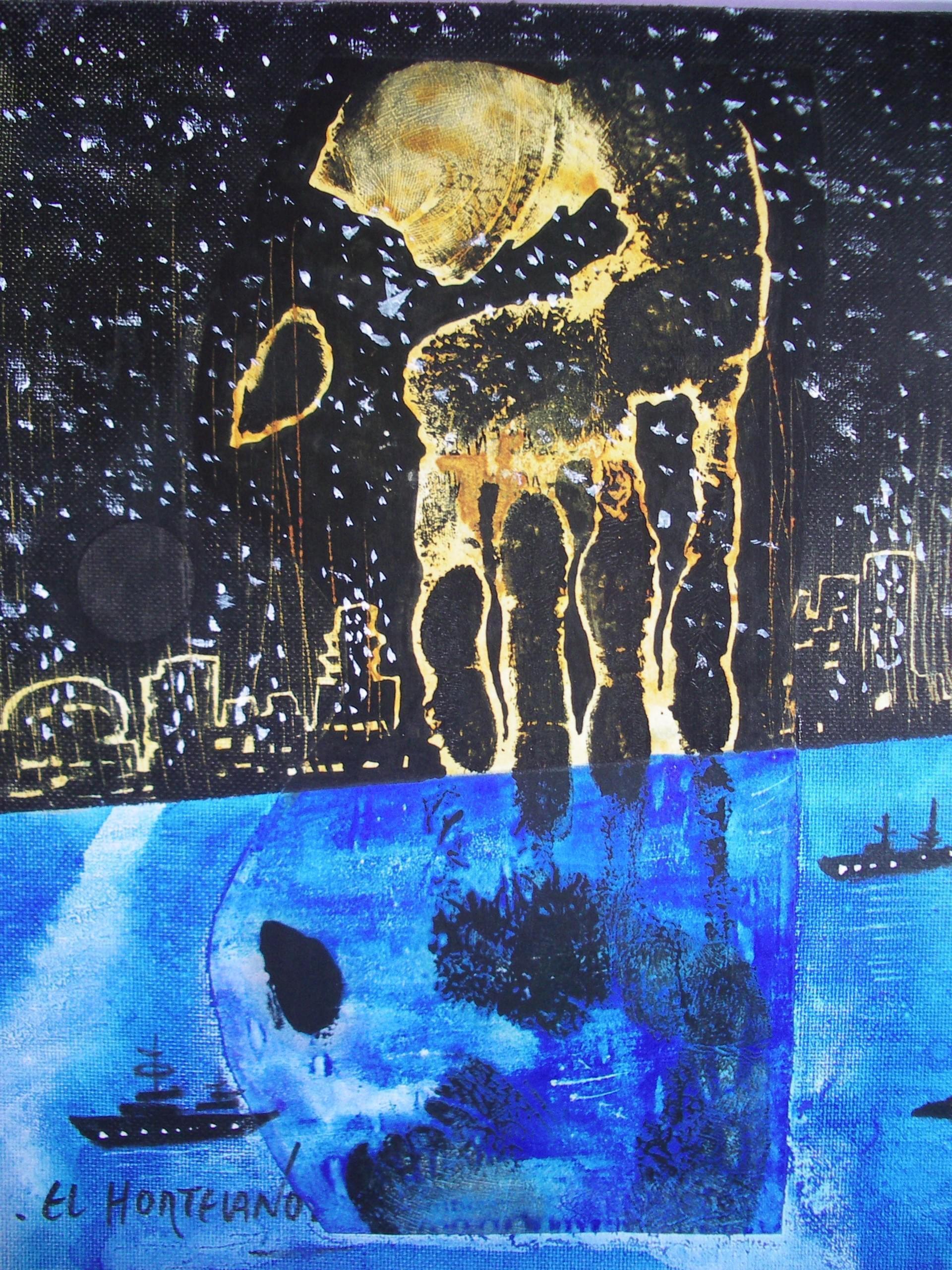 12-EH012 38-Bagdad Óleo y técnica mixta sobre lienzo 28 x 22 cm 2003
