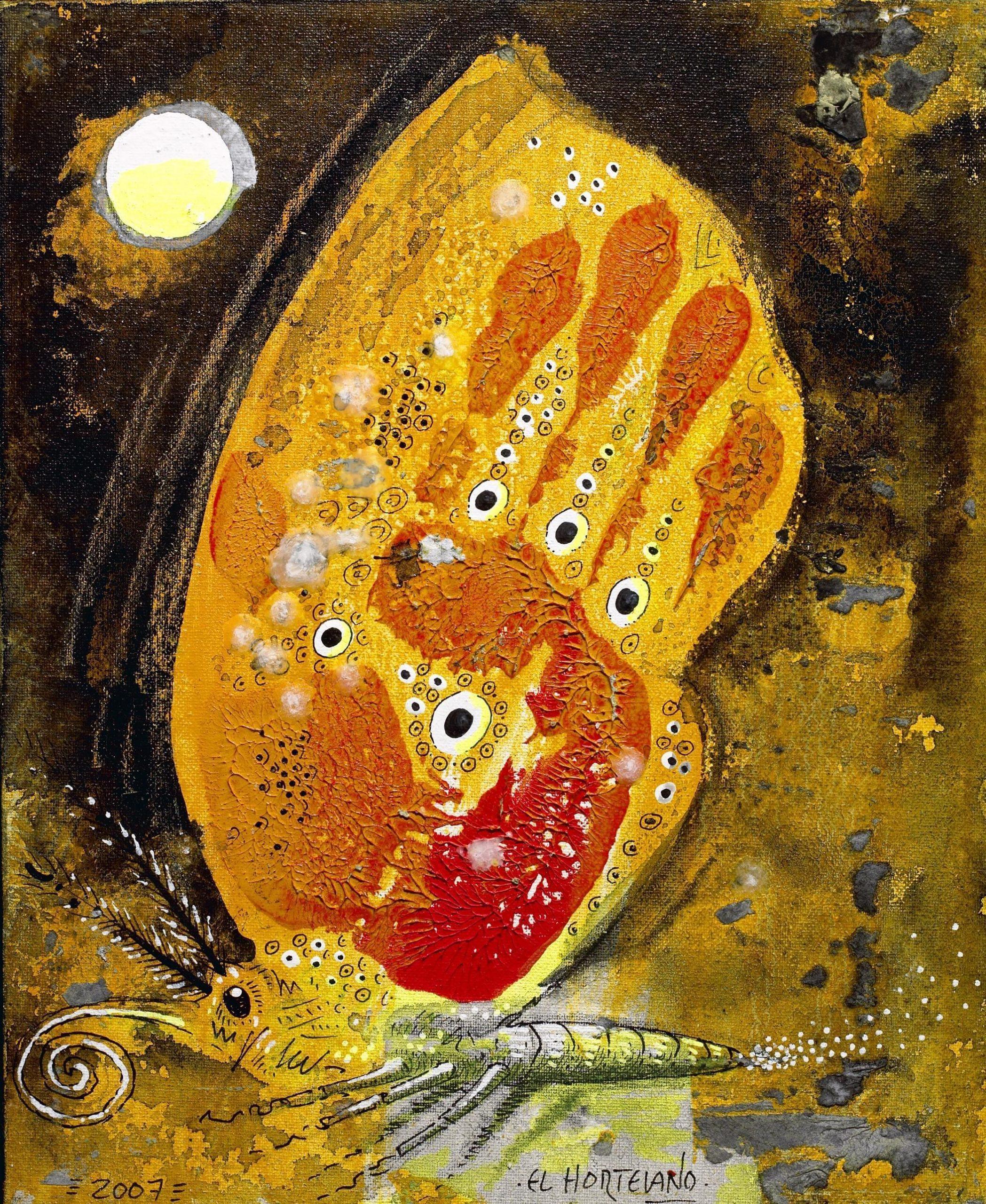 14-EH014 82-Licaena Arión Óleo y técnica mixta sobre lienzo 28 x 22 cm 2007