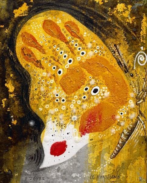 15-EH015 83-Lycaena icarus Óleo y técnica mixta sobre lienzo 28 x 22 cm 2007