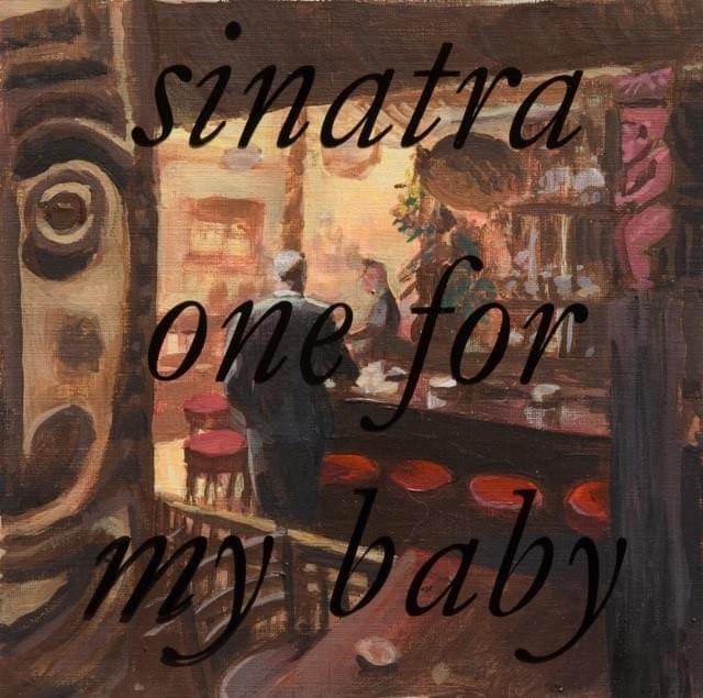 "CHARRIS. ""One for my baby"". Sinatra. Acrílico sobre papel. 18 x 18 cm. 2015."