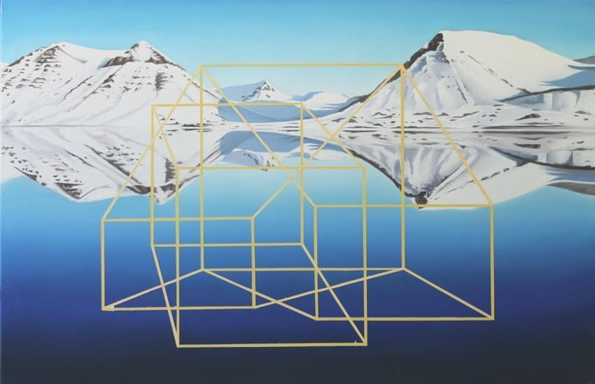 CU344. Alienación Geométrica Óleo sobre lienzo 60 x 92 cm 2015