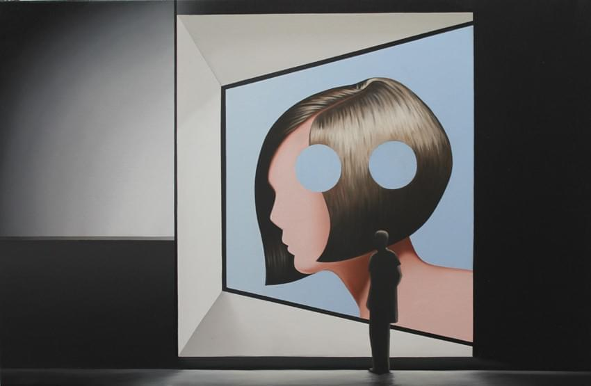 CU351. Hueco-La Representación Óleo sobre lienzo 60 x 92 cm 2016