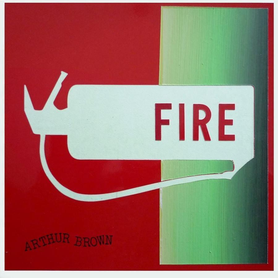 """ENRIQUE LARROY. """"Fire"""". Arthur Brown. Mixta sobre plástico. 18 x 18 cm. 2015."""
