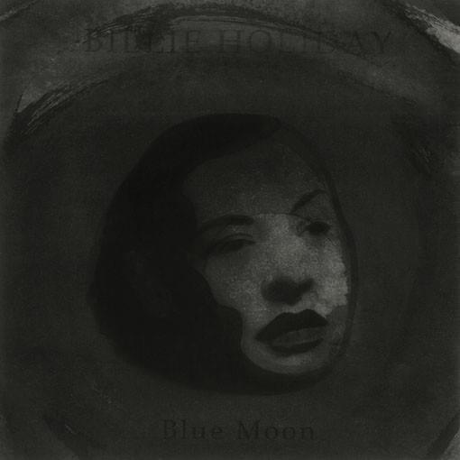 "ESTHER REVUELTA. ""Blue Moon"". Billie Holliday. Técnica mixta sobre papel. 18 x 18 cm. 2015."