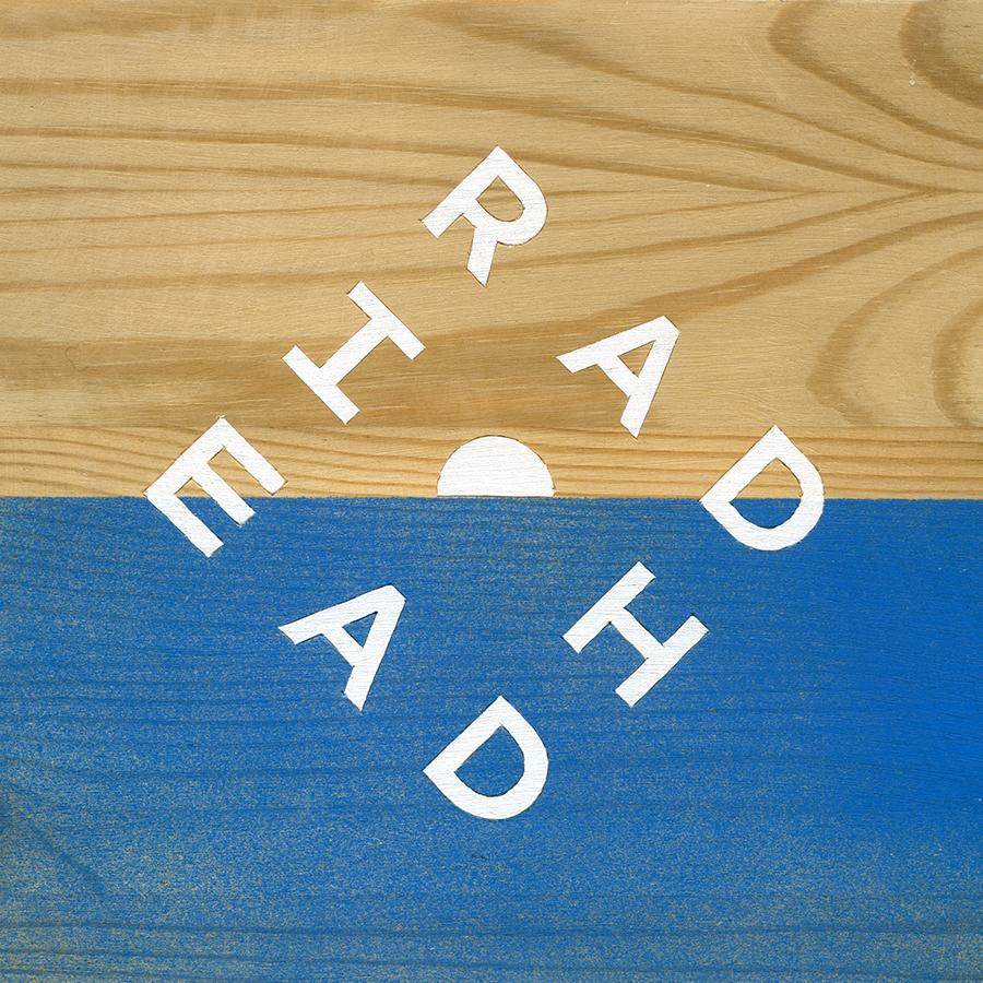 "GUILLERMO TRAPIELLO. ""Everything in its right place"". Radiohead. Spray y acrílico sobre madera 18 x 18 cm. 2015."