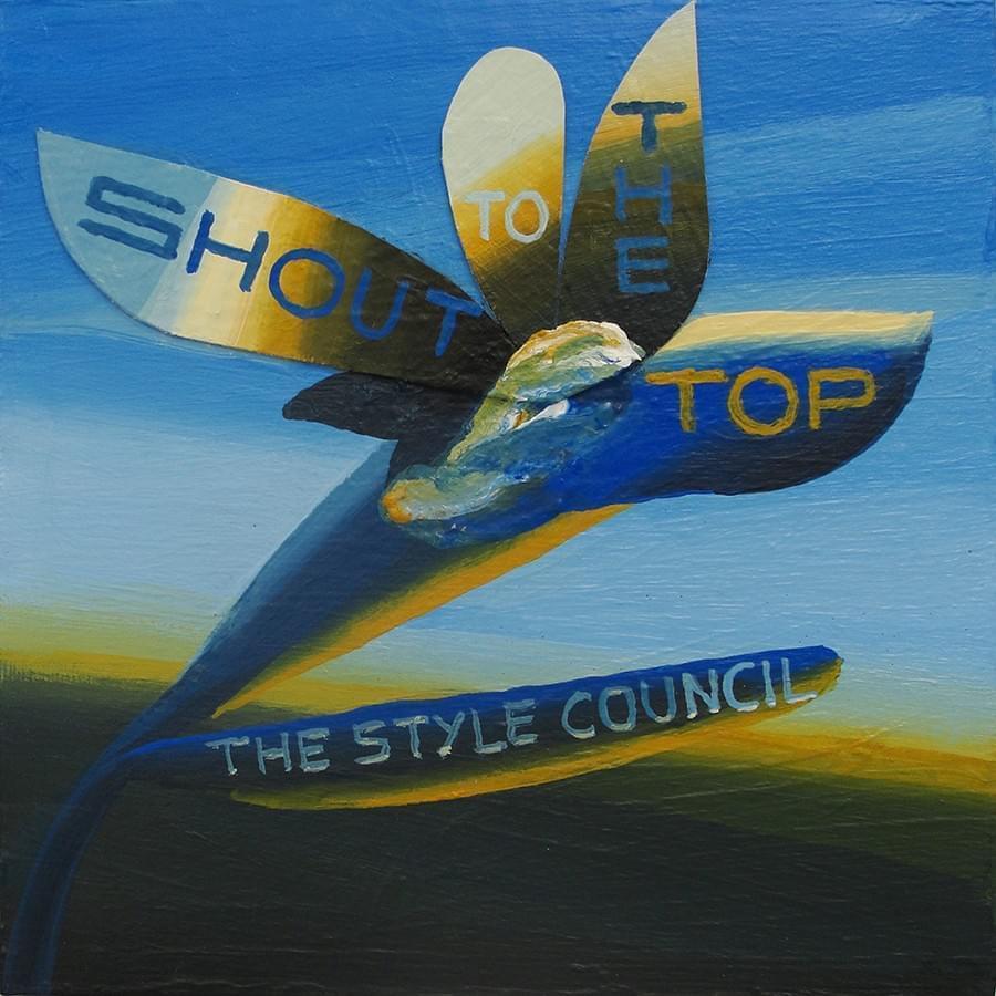 "JOËL MESTRE. ""Shout to the top"". The Style Council. Pigmento y látex sobre cartón. 18 x 18 cm. 2015."