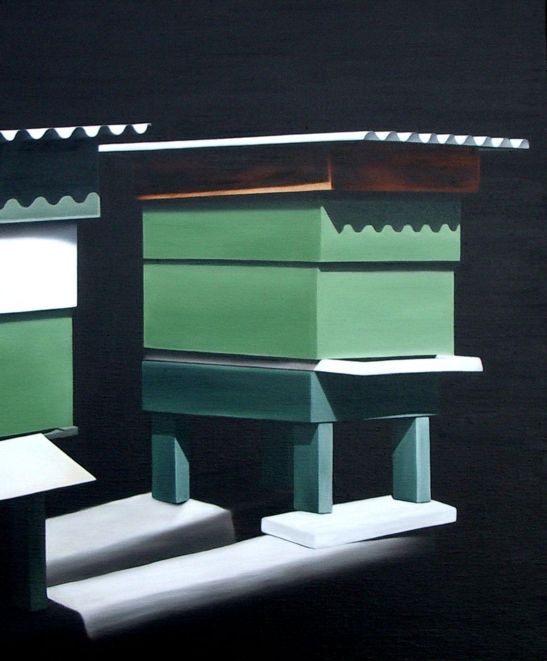 LW009 A world inside another Óleo sobre lienzo 65 x 54 cm. 2007