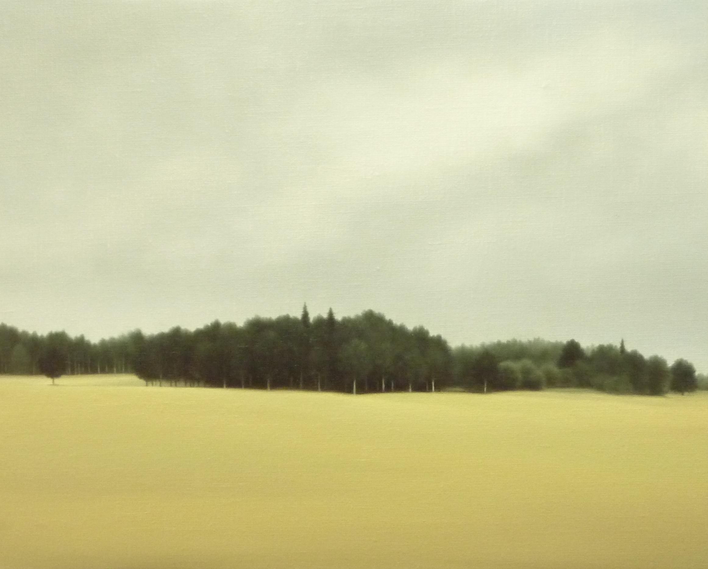 LW082 After the rain in spring Óleo sobre lienzo 33 x 41 cm. 2016