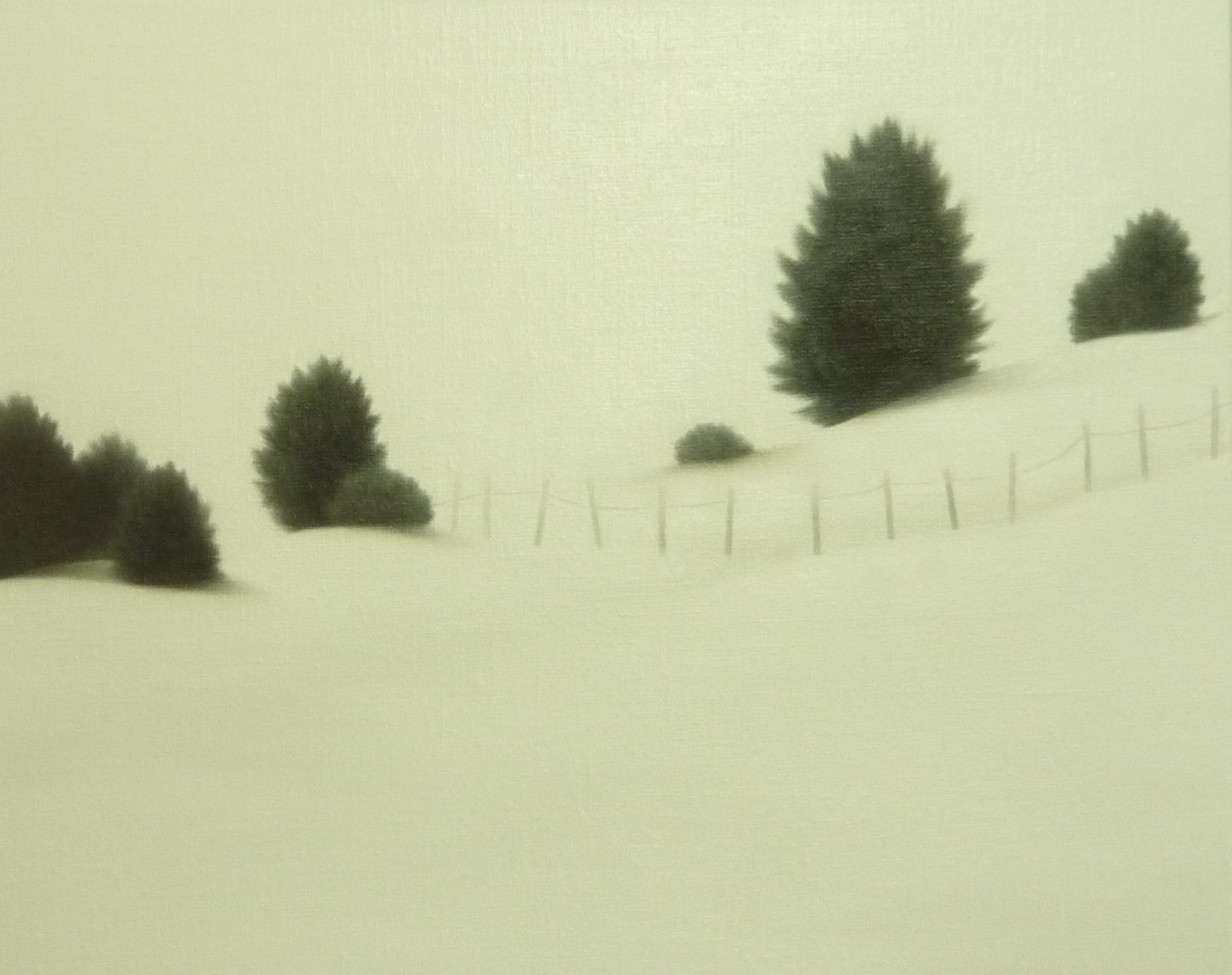 LW091 Winter morning Óleo sobre lienzo 33 x 41 cm. 2016