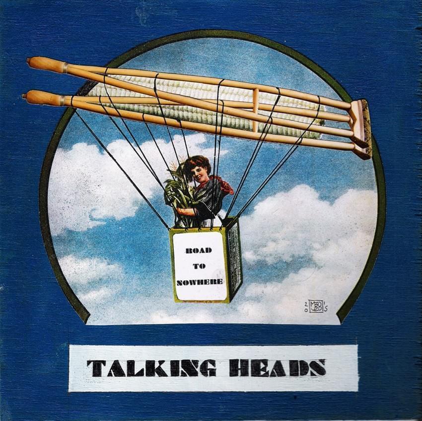 "MANUEL BOUZO. ""Road to Nowhere"" Talking Heads. Collage, tinta indeleble y acrílico sobre contrachapado. 18 x 18 cm. 2015."