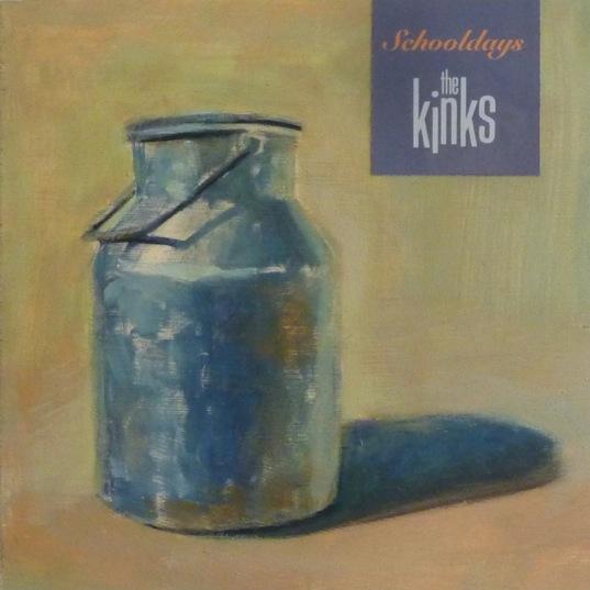 "MARIANA LAIN. ""Schooldays"". The Kinks. Óleo sobre madera. 18 x 18 cm."