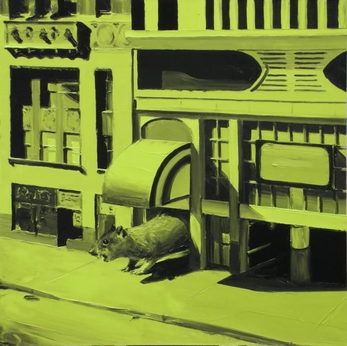 PP094 Downtown Óleo sobre lienzo 70 x 70 cm. 2007