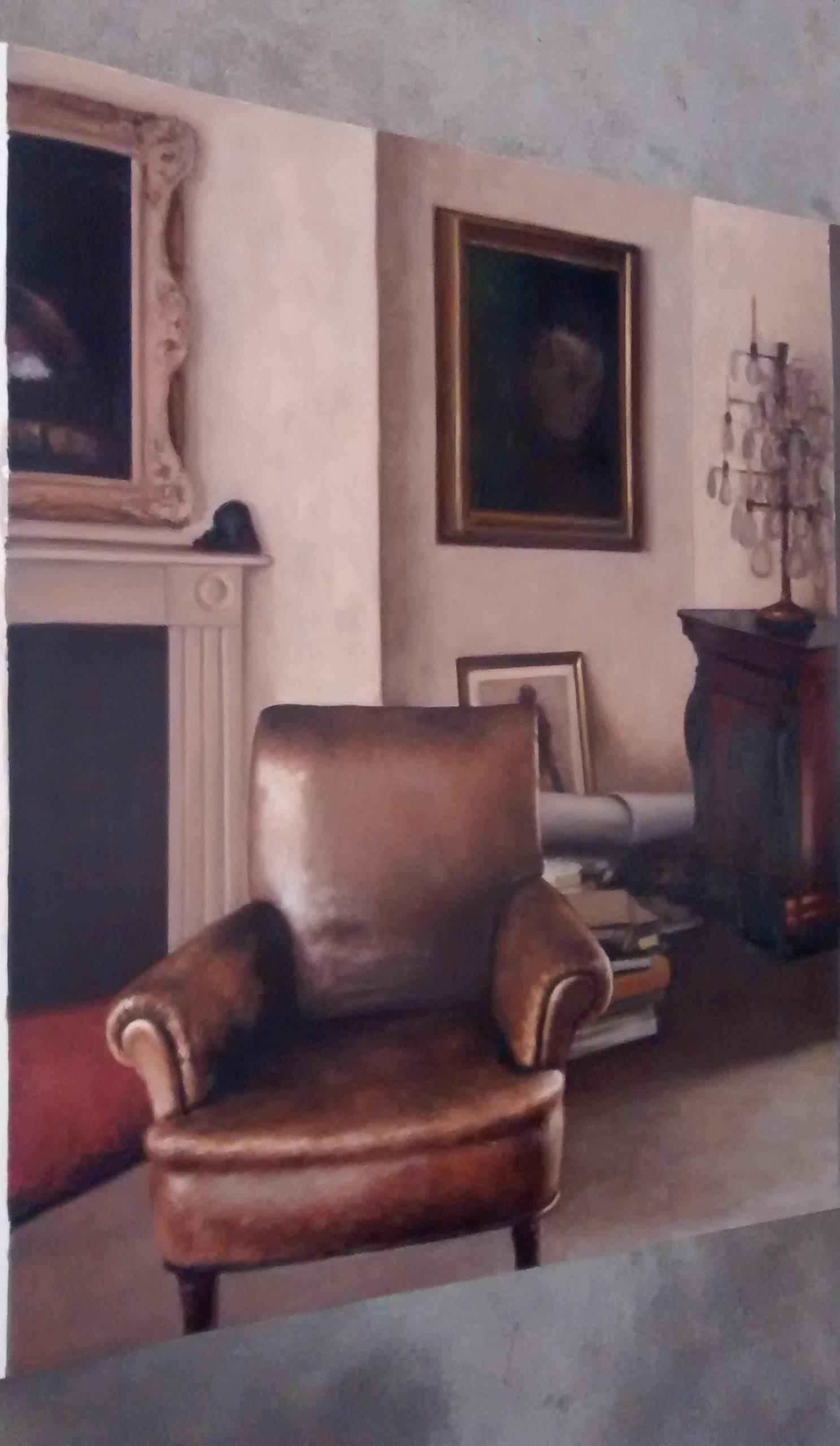 SC460. Dormitorio de Lucian en Kensington I Óleo sobre papel 140 x 116 cm 2016