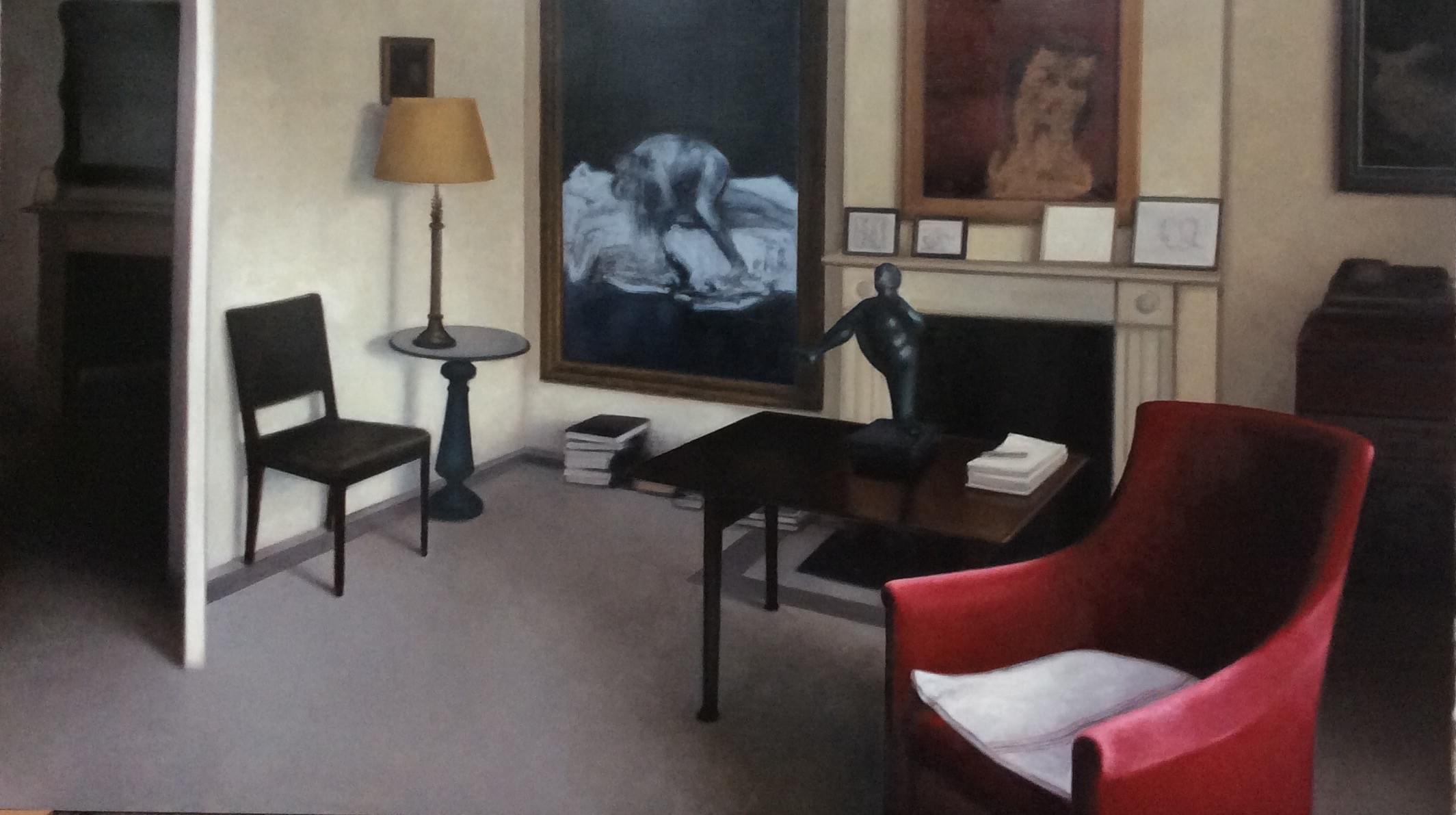 SC461. Dormitorio de Lucian en Kensington II Óleo sobre papel 140 x 240 cm 2016