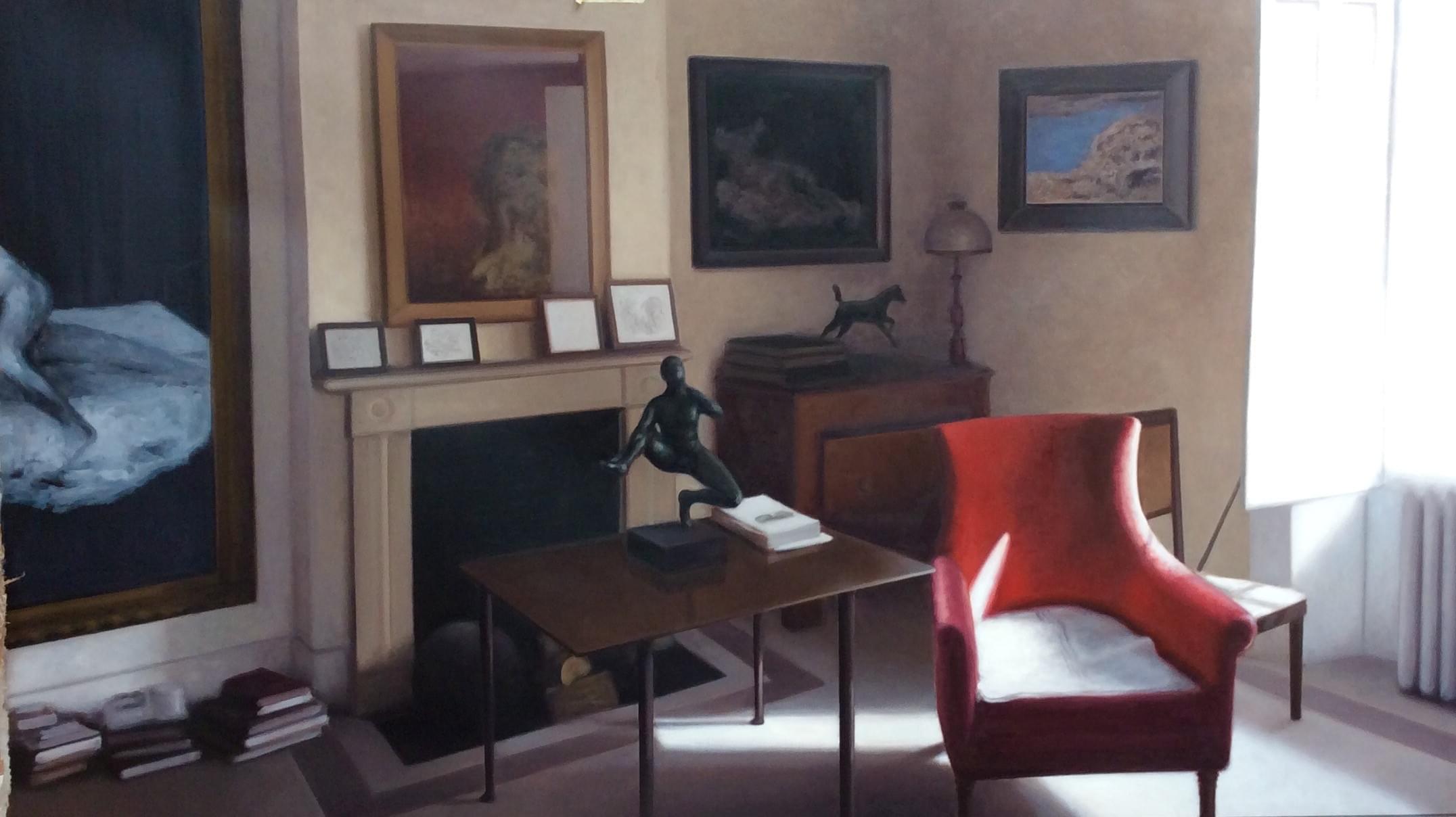SC462.Dormitorio de Lucian en Kensington III Óleo sobre pape 140 x 246 cm 2016