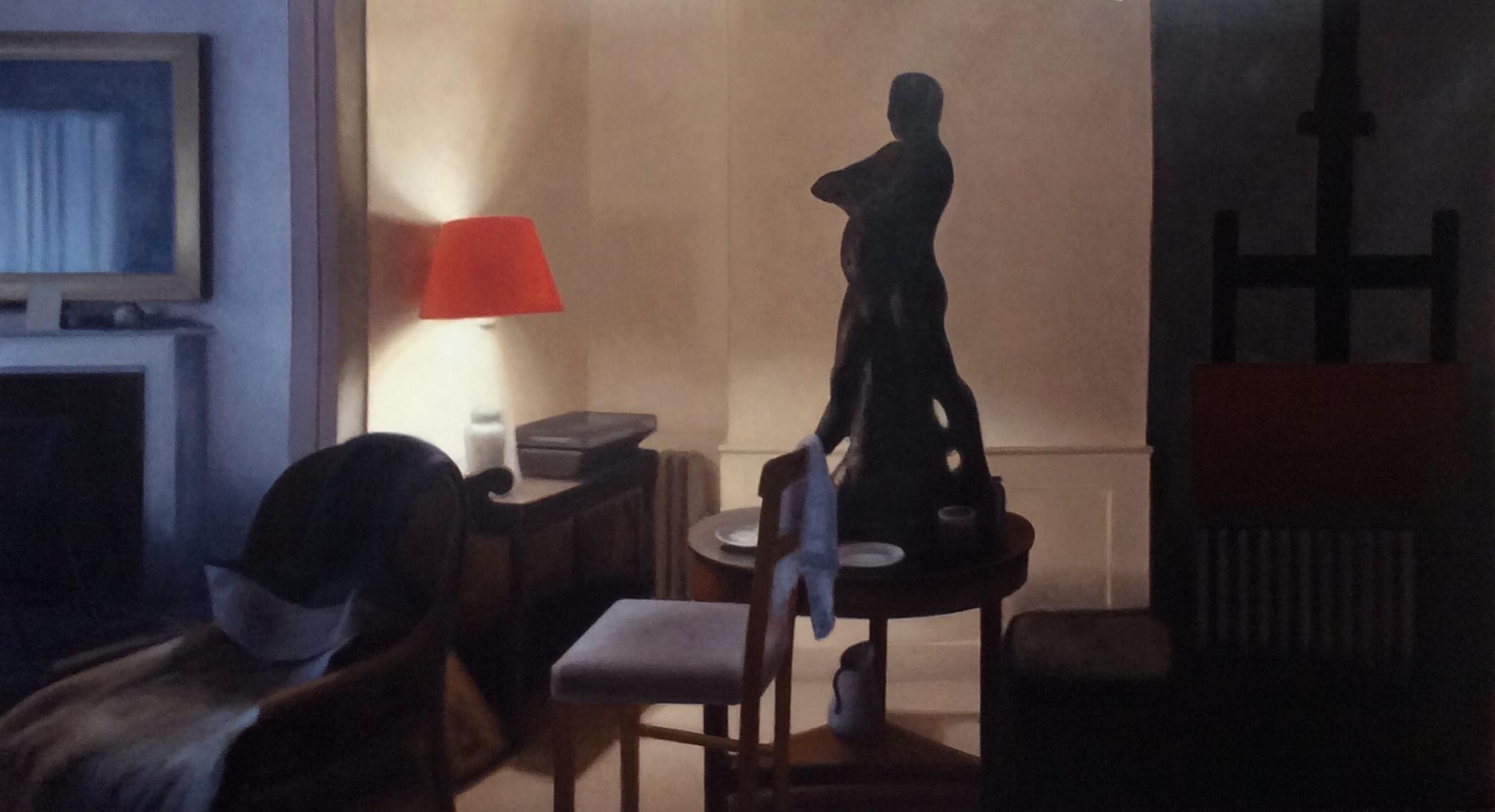 SC463. Balzac desnudo Óleo sobre papel 140 x 250 cm 2016