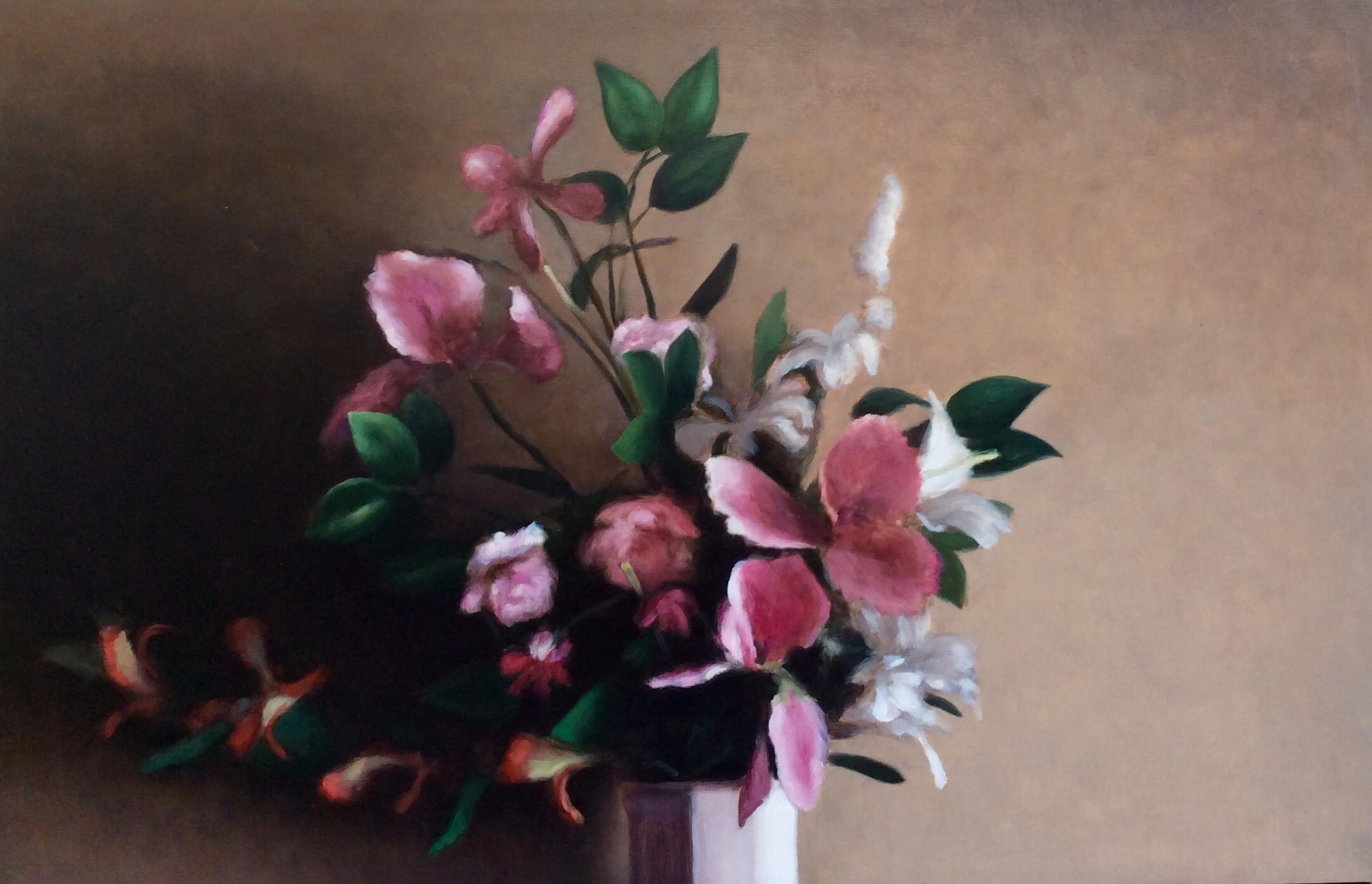 SC469 Flores Óleo sobre cartón 65 x 100 cm. 2014