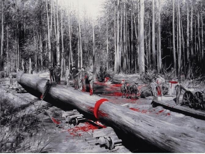 Rojo Serigrafía 58 x 75,2 cm. 2015