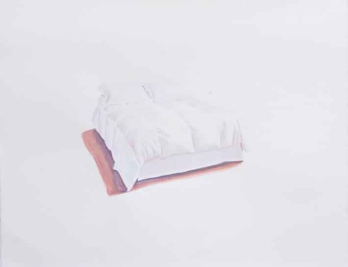 TM291 CAMA AD I.L. Gouache sobre papel. 51 x 66 cm. 2012