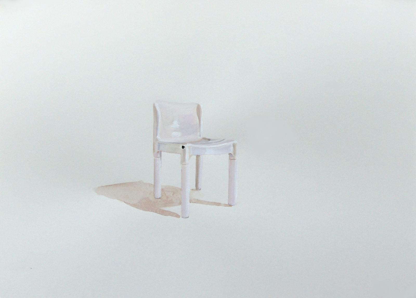 TM315. Pelayo Varela, silla. Gouache sobre papel. 28,50 x 38,50 cm. 2016