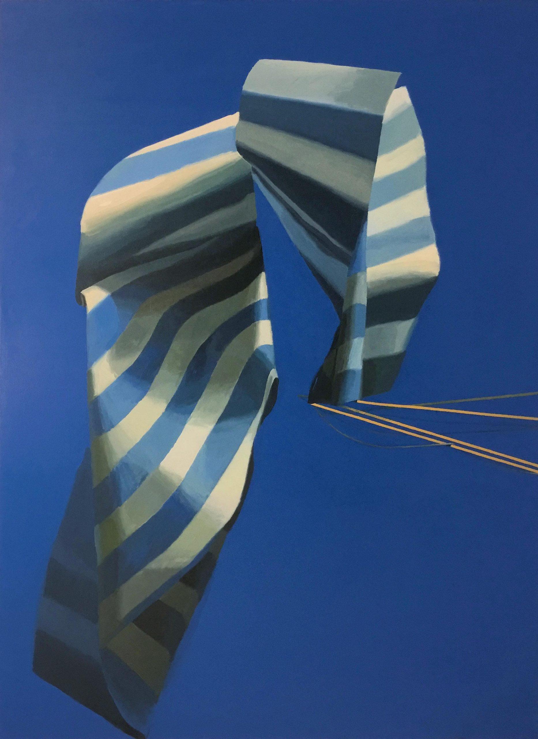 02-ASTA, PAÑO Y DRIZA (una solución epica y aberrante) 250 x 180 cm Pigmento y látex sobre loneta