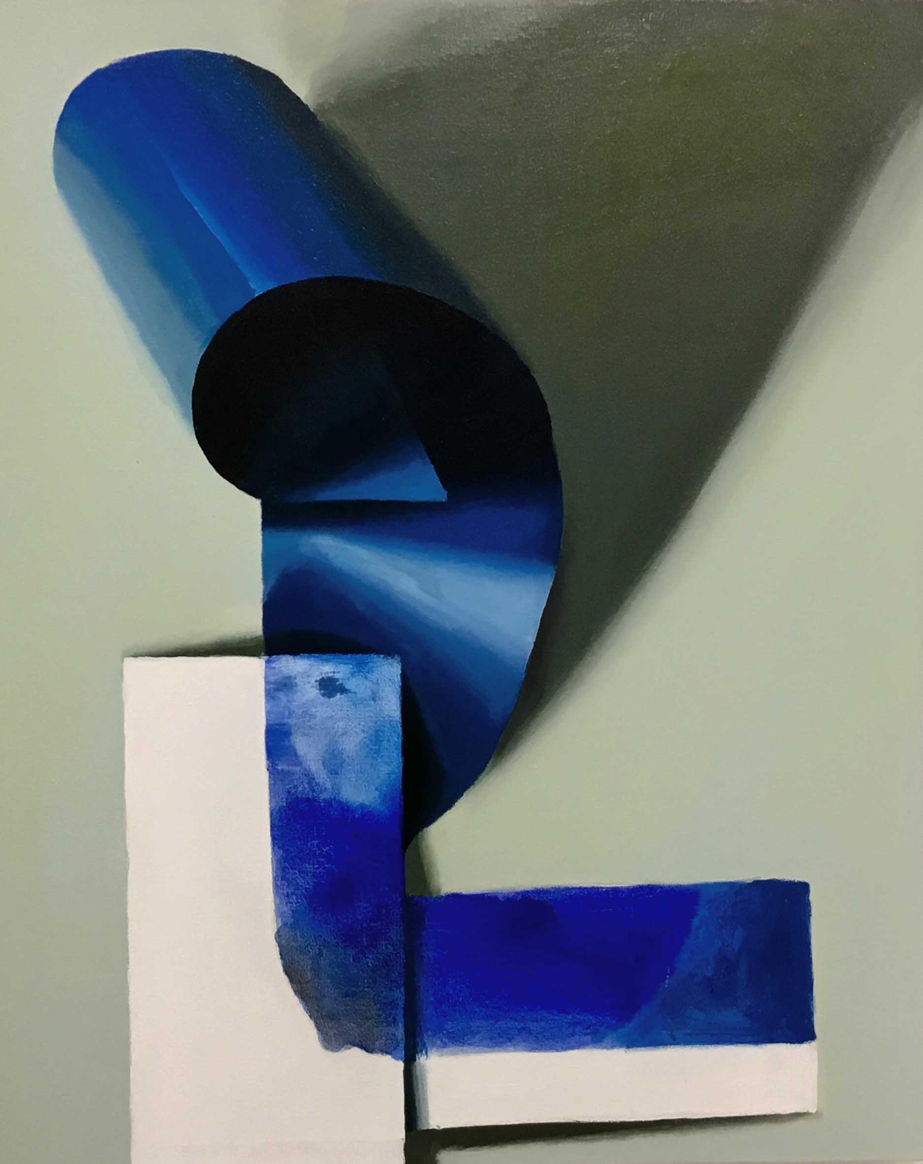 06 L LETRA CAPITAL 92 x 73 cm Pigmento y latex sobre loneta 2017