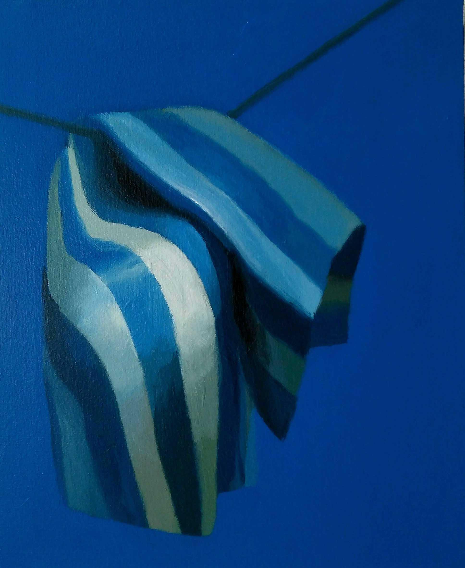11 PATHETIC FLAG 61 x 50cm Pigmento y latex sobre loneta 2017