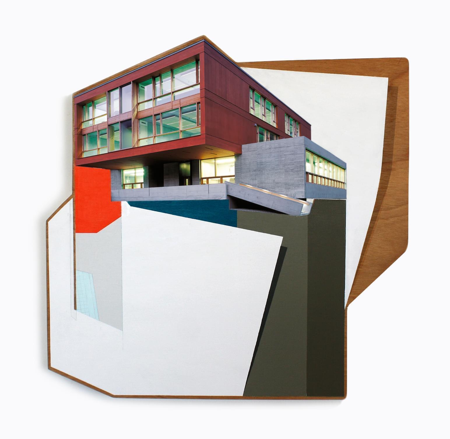 5. Modular VII Técnica mixta sobre madera 65,5 x 65,5 cm 2018