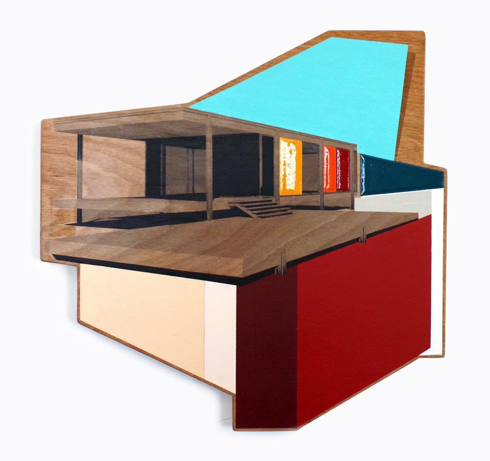 6. Modular VIII Técnica mixta sobre madera 65 x 65 cm 2018