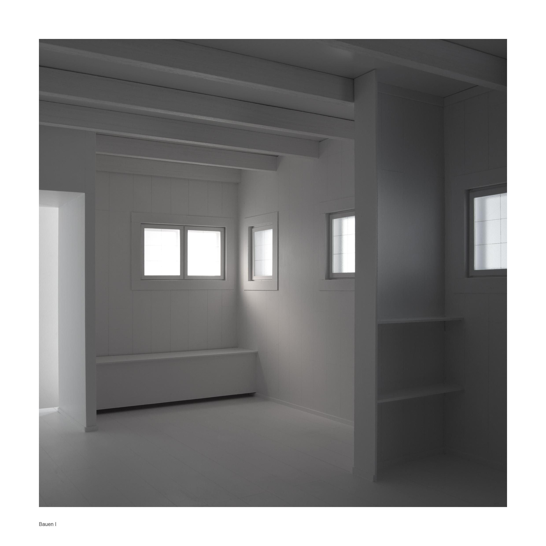 bauen1 Bauen I Refugio de filósofo. (Cabaña de Martín Heidegger). Impresión digital, papel algodón Hahnemühle. 140X140cm. Edición 5+2 P.A.