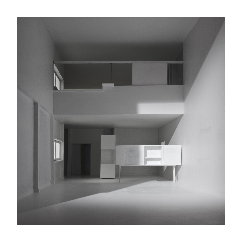 bauen2 Bauen III. Vivienda para un nuevo hombre. (Immeubles–Villa. Le Corbusier). Impresión digital, papel algodón Hahnemühle 120X120cm. Edición 5+2 P.A.