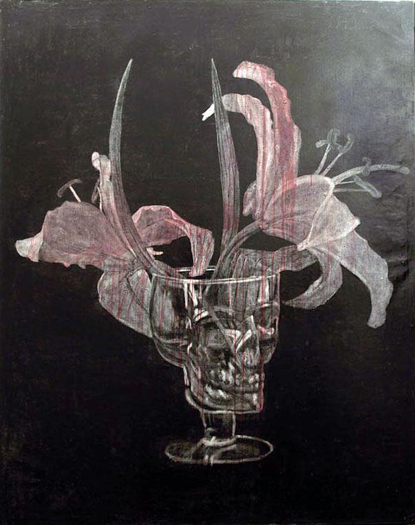 Mavi Escamilla. La Victoria 1. Encáustica y acrílico sobre tela. 162 x 130 cm. 2011.
