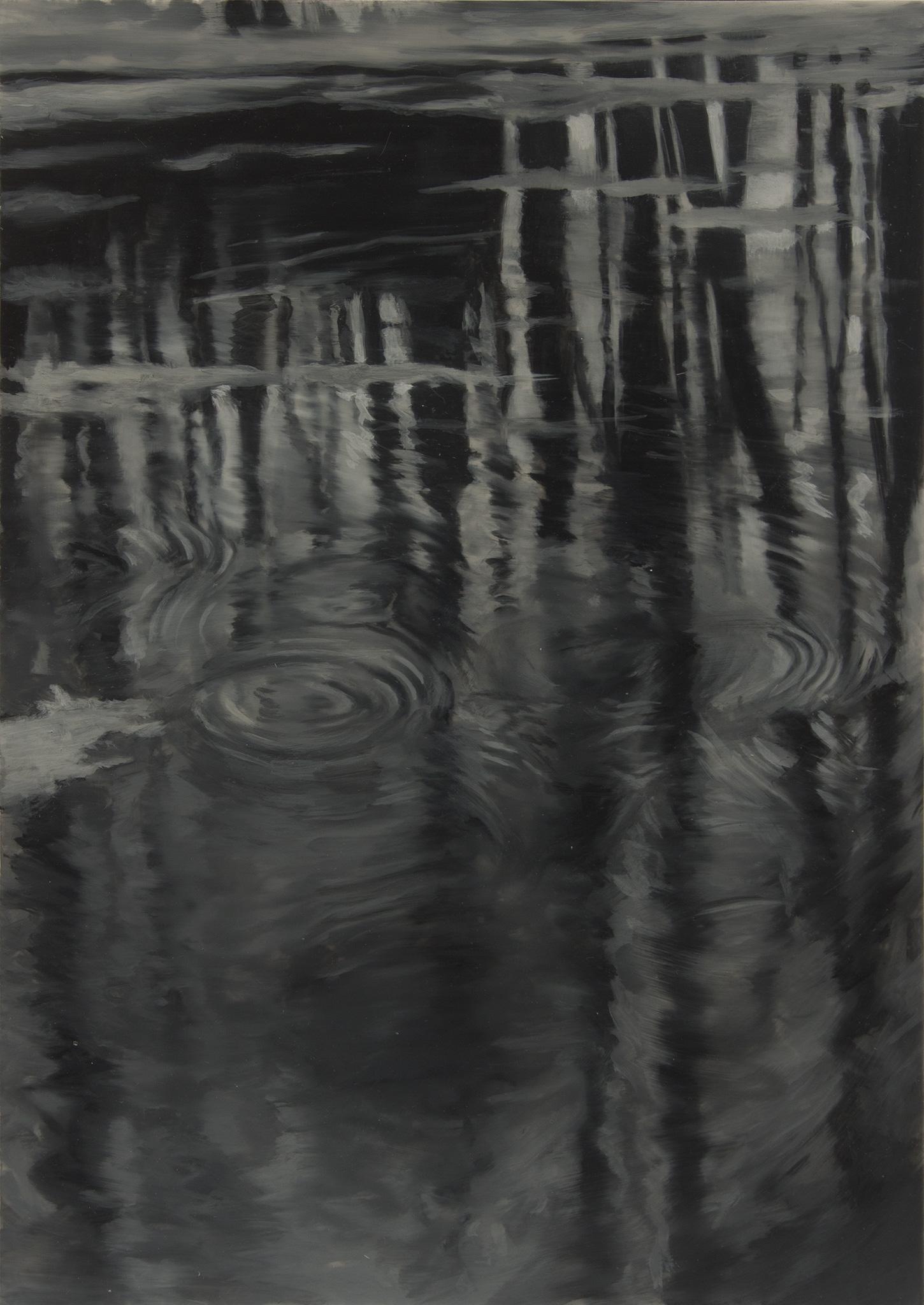 Poema I Óleo sobre poliéster 29,5 x 21 cm 2019