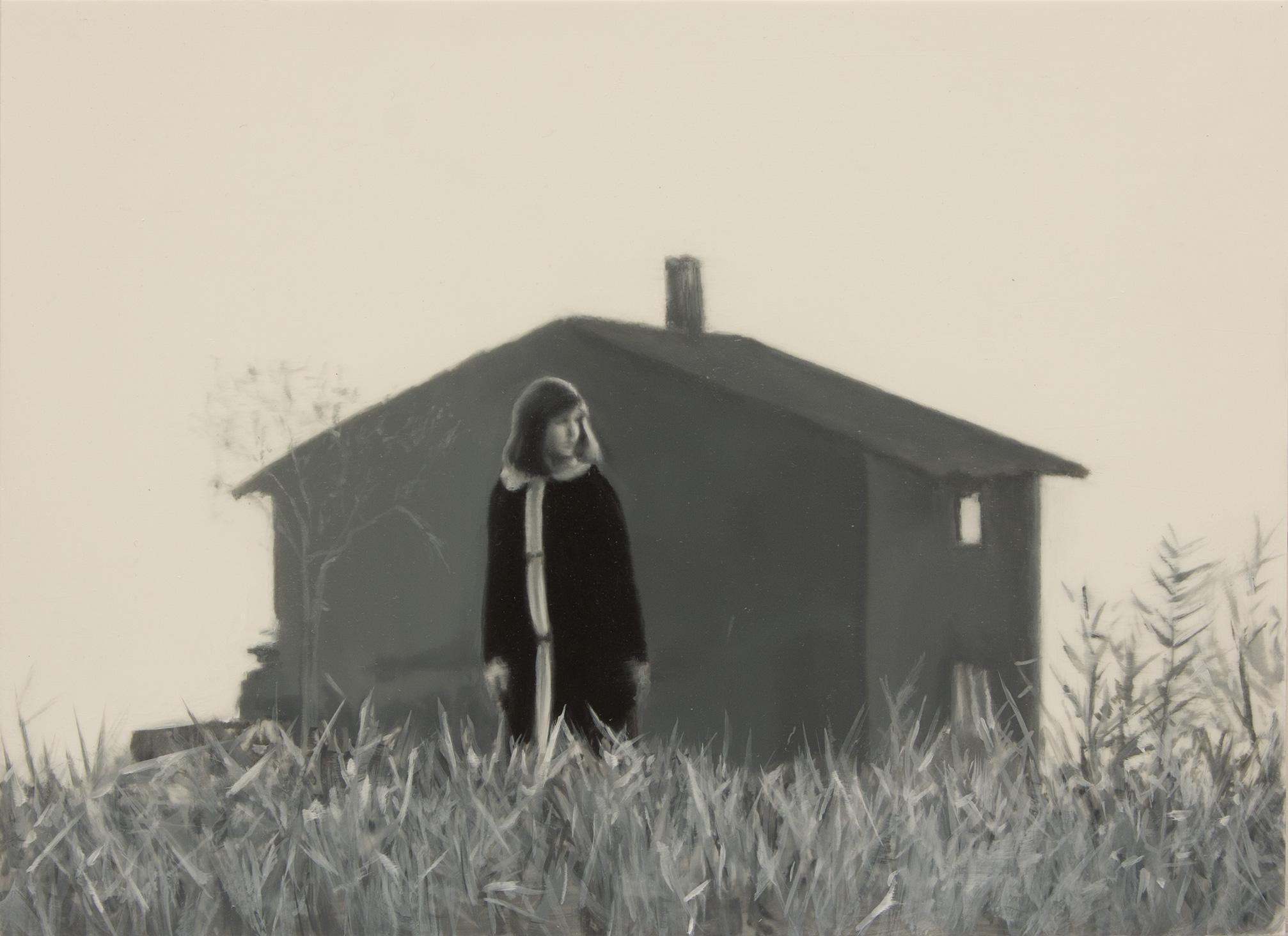 The girl who lived on an island Óleo sobre poliéster 19 x 26 cm 2019