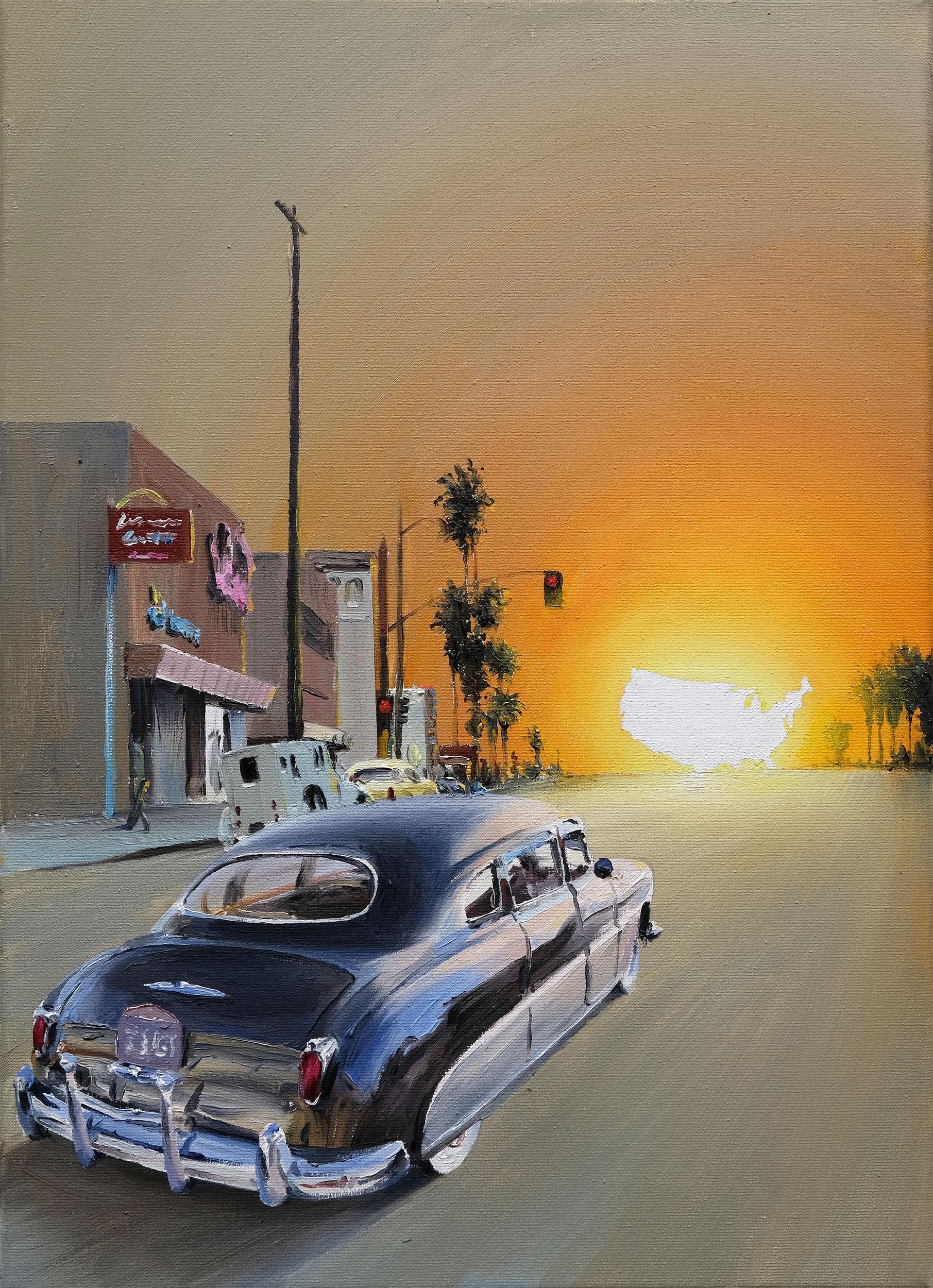 On The Road (Óleo sobre lienzo. 46 x 33 cm. 2019)