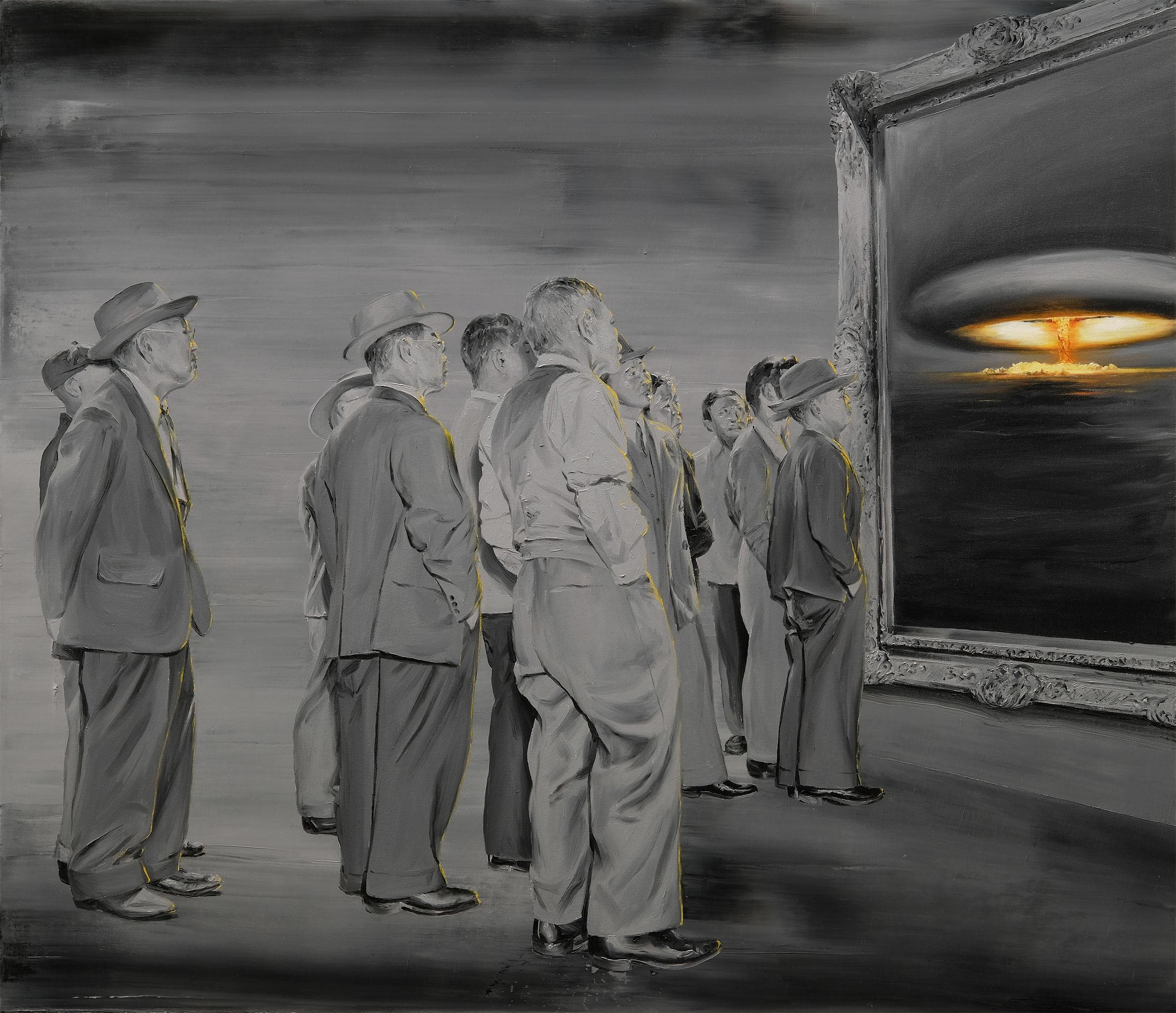 PP335 Infamia sobre lienzo Óleo sobre lienzo 130 x 150 cm 2019