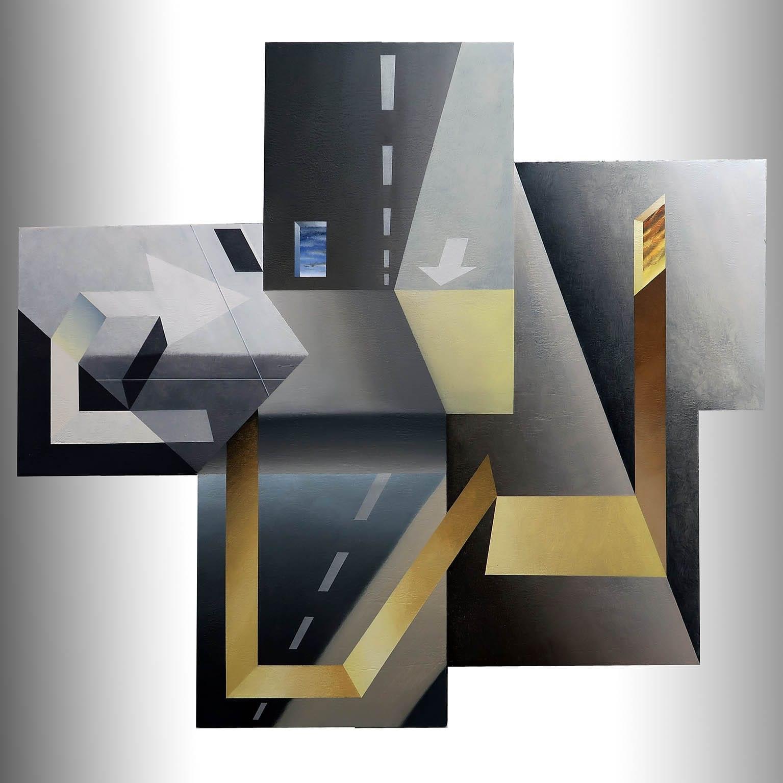 AR085 Antonio Rojas Las distancias cortas Acrílico sobre lienzo 110 x 120 cm 2020