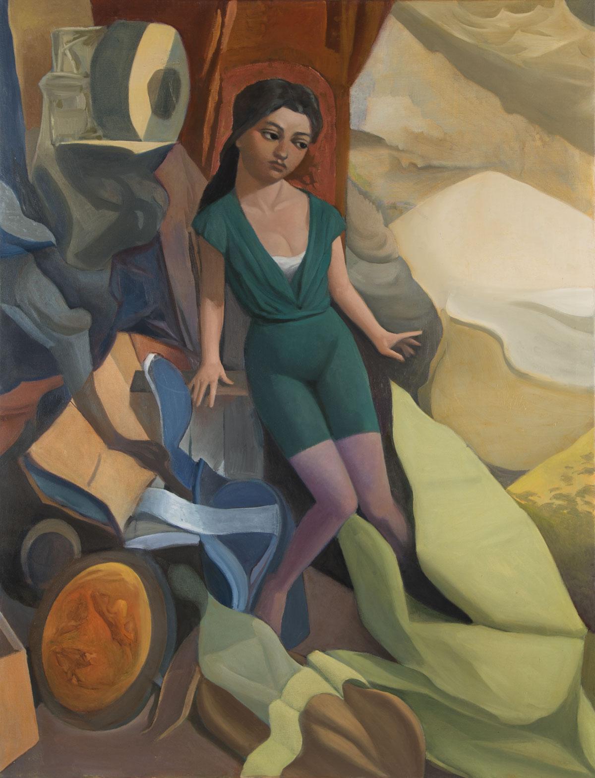 PÑ003 Paco Ñíguez Sin título Óleo sobre lienzo 116 x 89 cm 2020