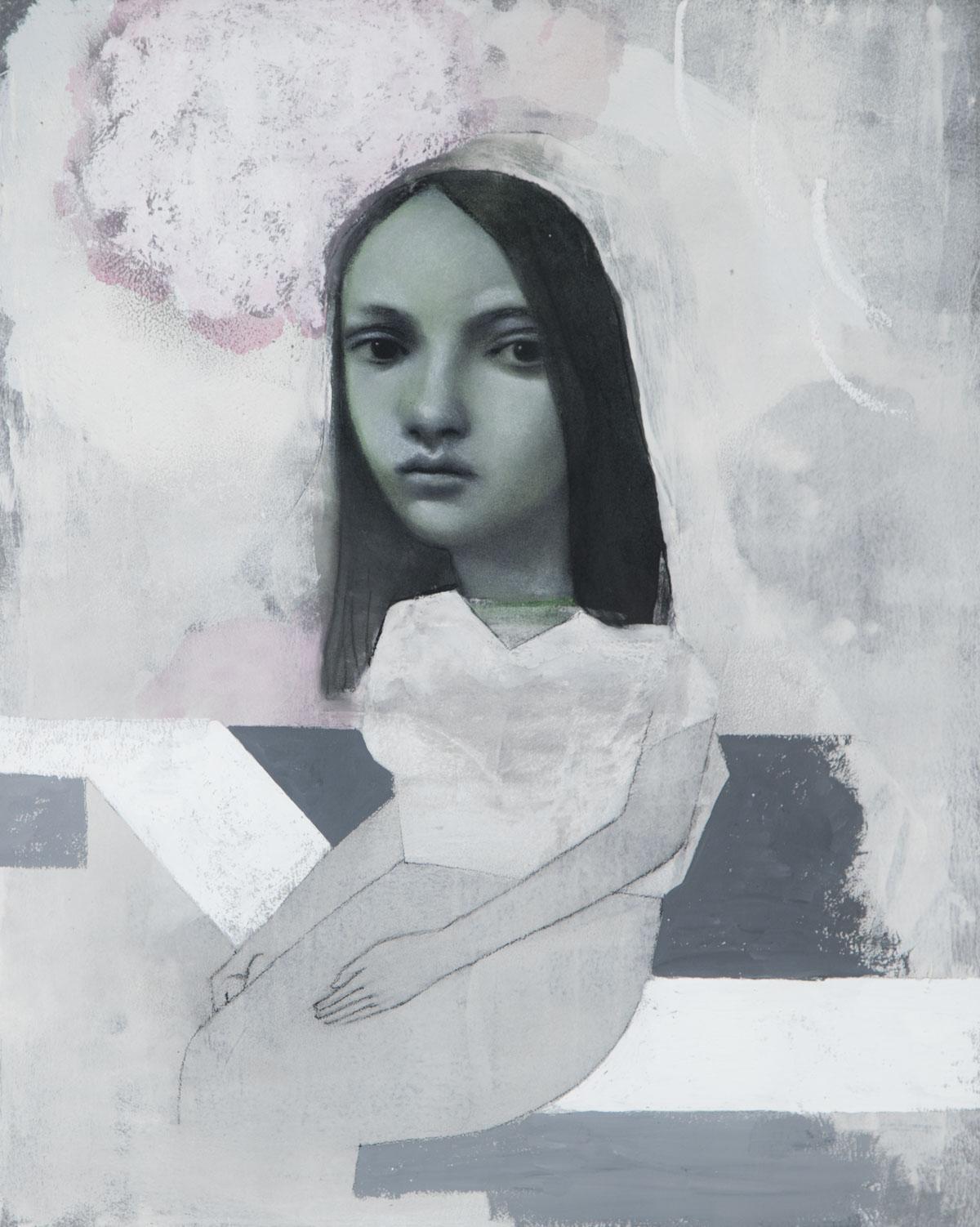 PÑ008 Spleen I Técnica mixta sobre papel 50 x 40 cm 2020