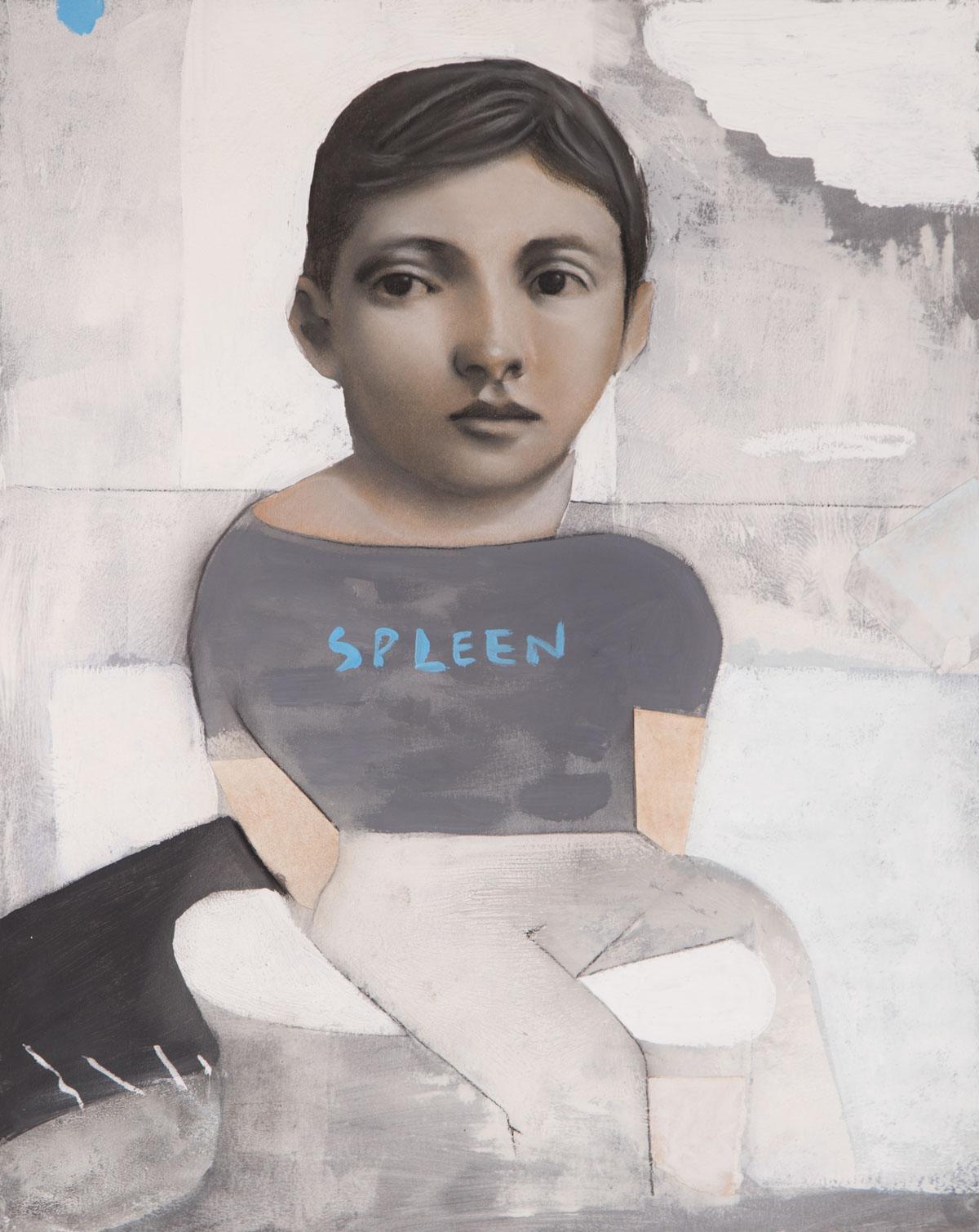 PÑ010 Spleen III Técnica mixta sobre papel 50 x 40 cm 2020