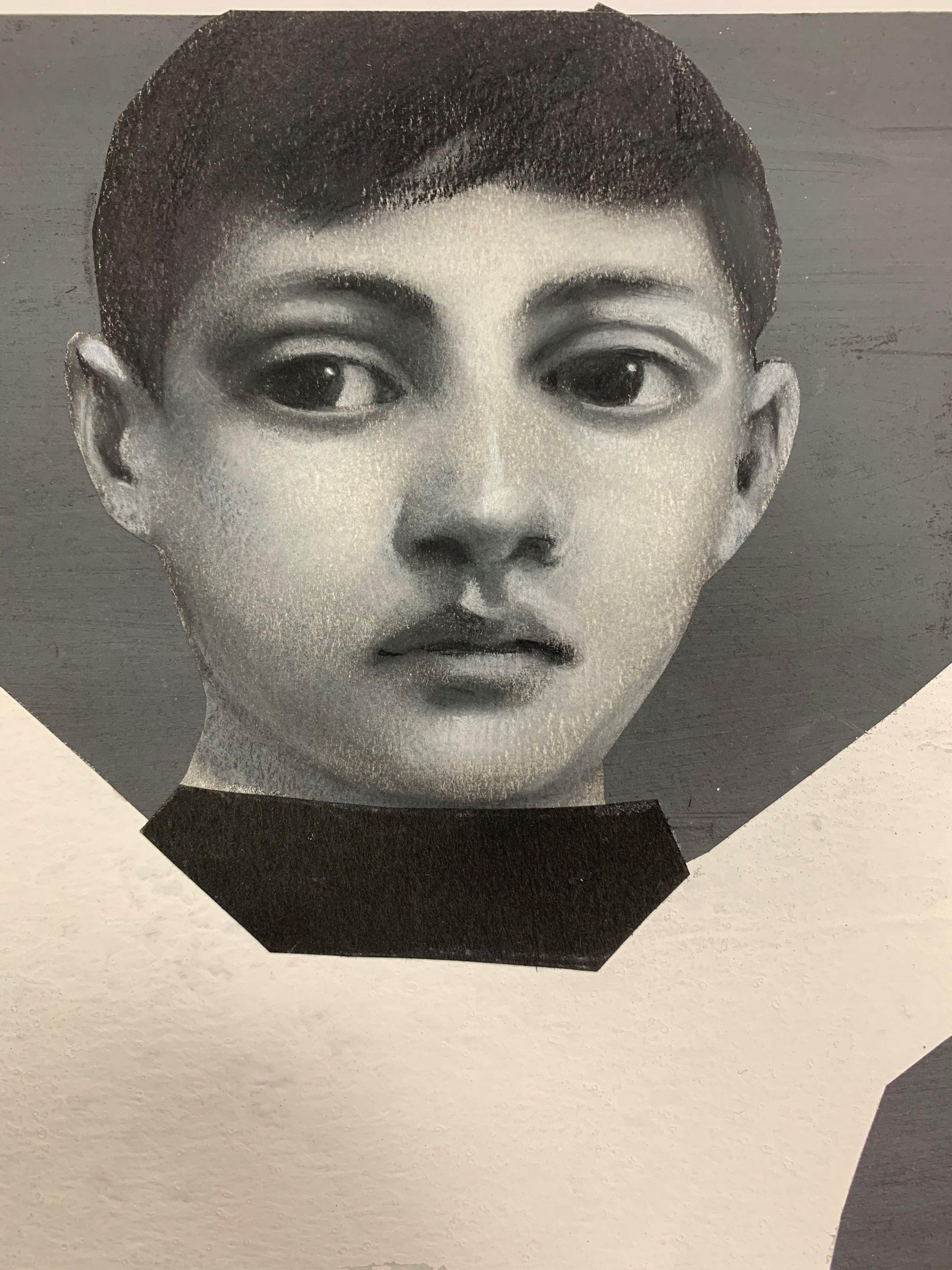 PÑ024 Saudade I 21 x 21 cm lápiz sobre cartón 2020