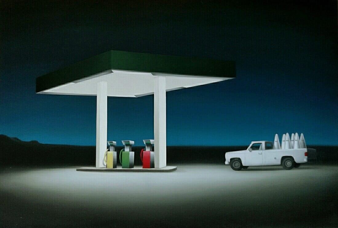 Juan Cuéllar Black Friday óleo sobre lienzo 50 x 73 cm 2020