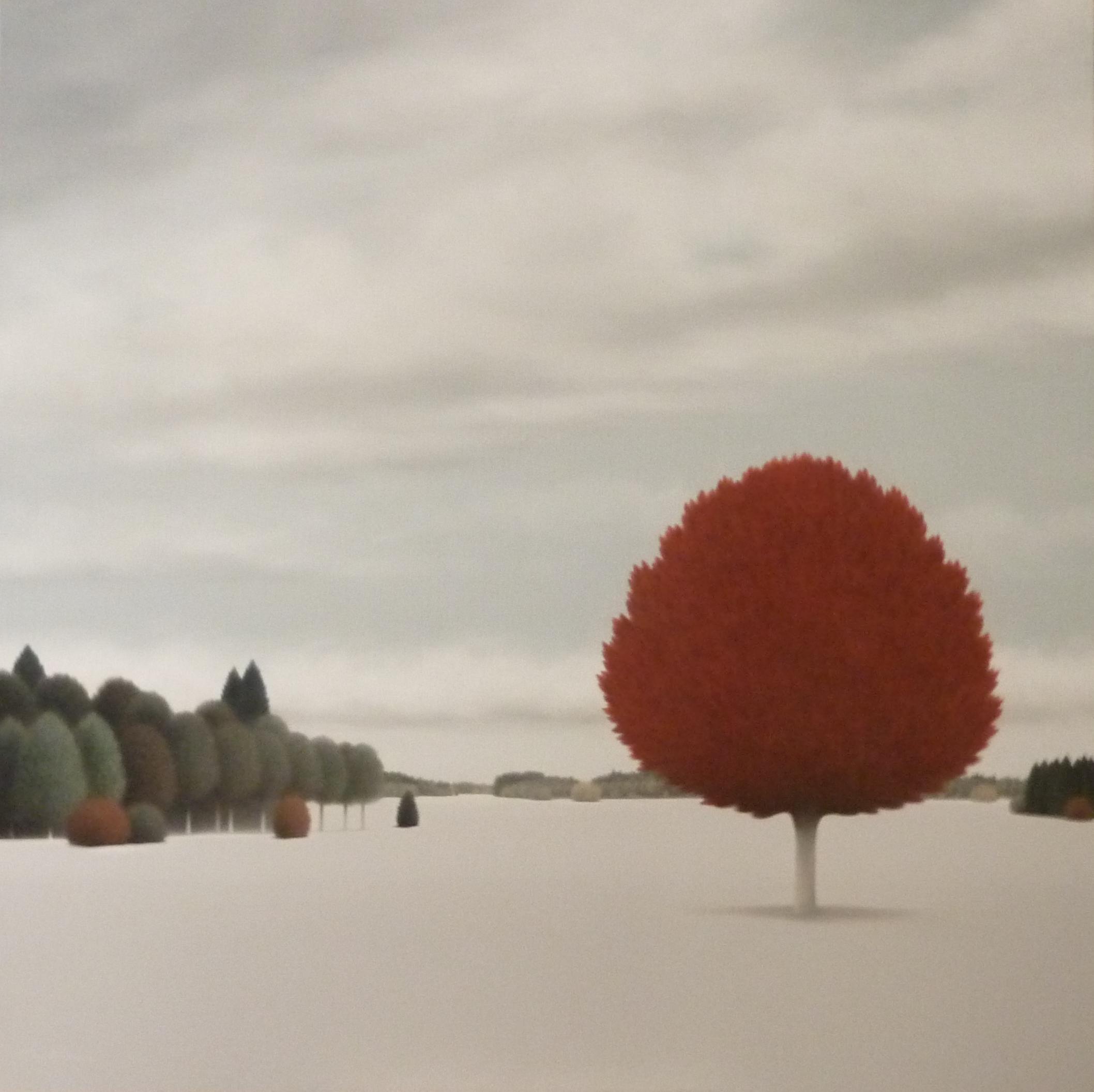 LW100. Inner Land-I. Tríptico. Óleo sobre lienzo. 130 x 130 cm. 2019. 5900 euros