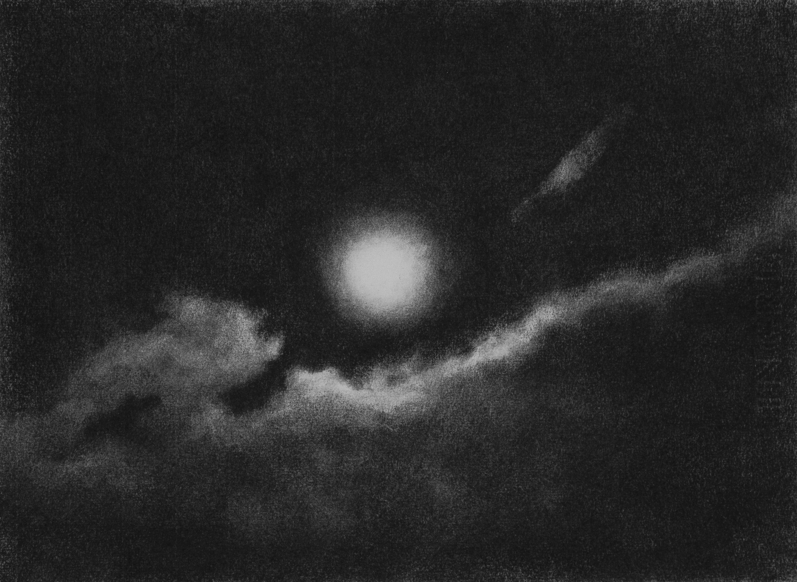 GONZALO-SICRE-Nocturno I Lápiz Conté sobre papel 30 x 40 cm. 2020